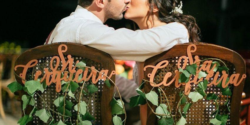 10 Frases para cadeira dos noivos