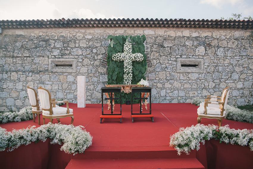 Decoração de casamento ao ar livre - Forte de Santa Catarina