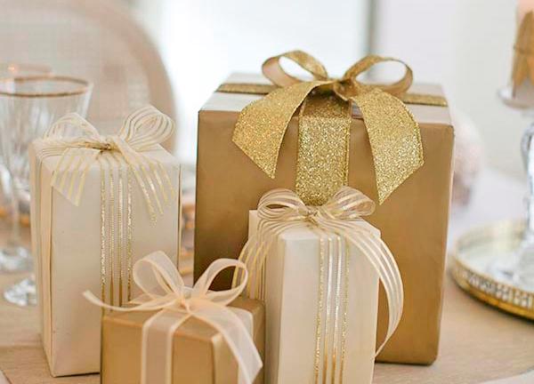 Decoração de Natal: dourado