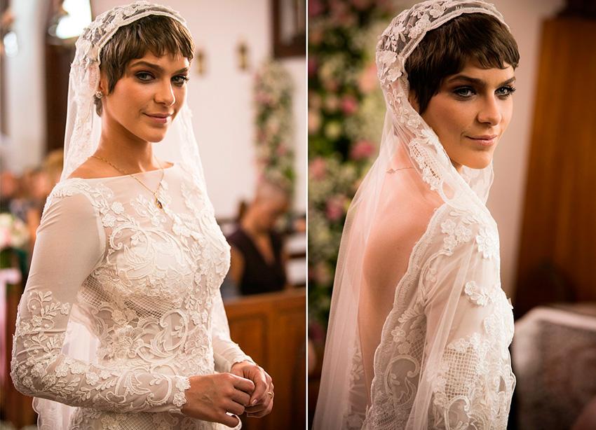 Vestido de noiva de Letícia da novela