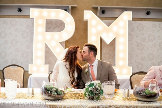 Como usar letreiros na decoração do casamento