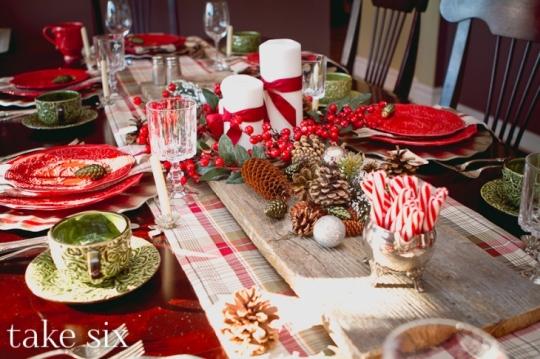 Inspirações de decoração para a mesa no Natal