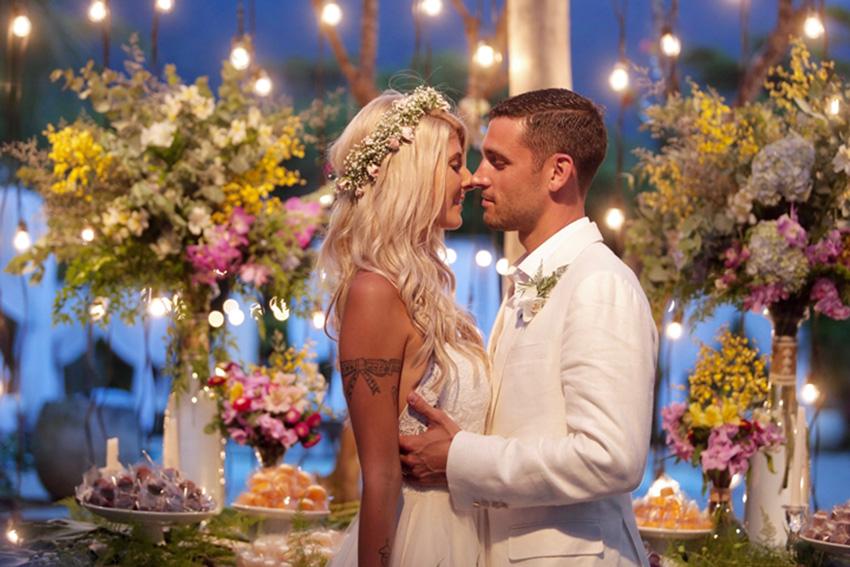 Casamento na praia de Maresias: Danielle e Harry