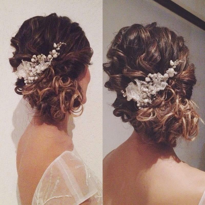 O penteado da noiva Camila Honorato