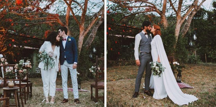 Casamento duplo: Deborah e Huayna - Lili e David