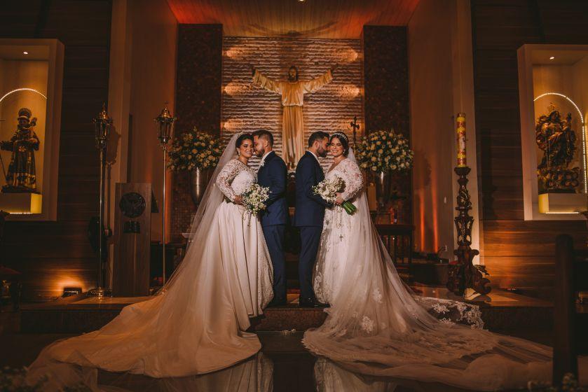 Casamento duplo em João Pessoa: Carol e Thiago - Camile e Dennis