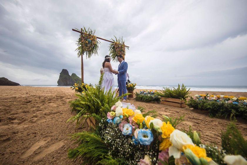 Casamento em Noronha: Marhana e William