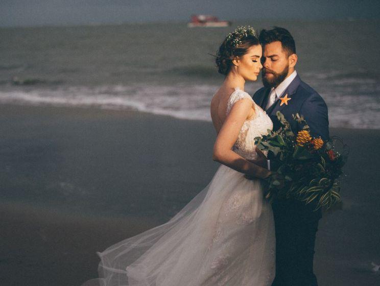 Casando na Praia - Os Noivos
