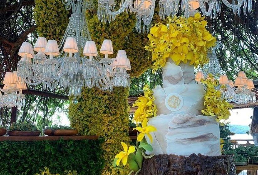 Decoração com girassóis para casamento - Inspiração casamento Carlinhos Maia e Lucas Guimarães