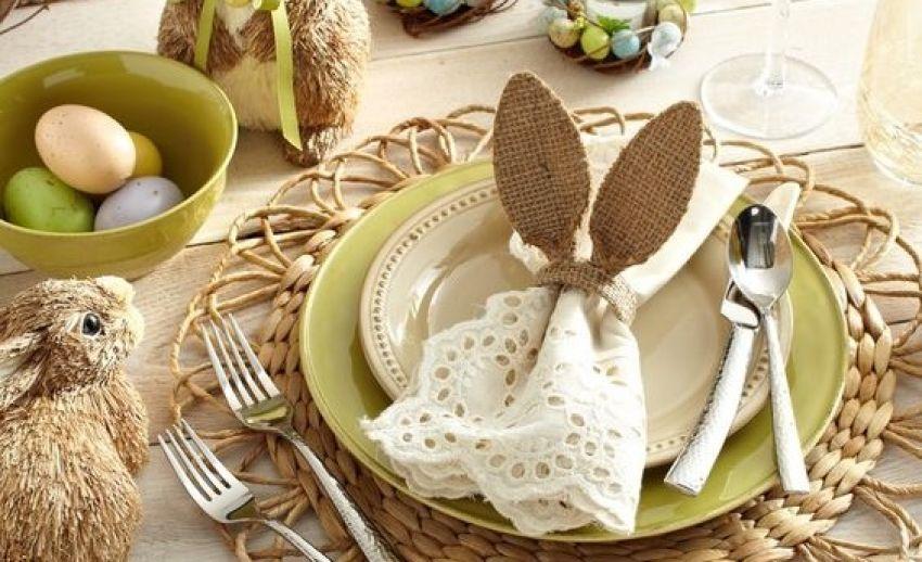 Decoração da mesa para a Páscoa