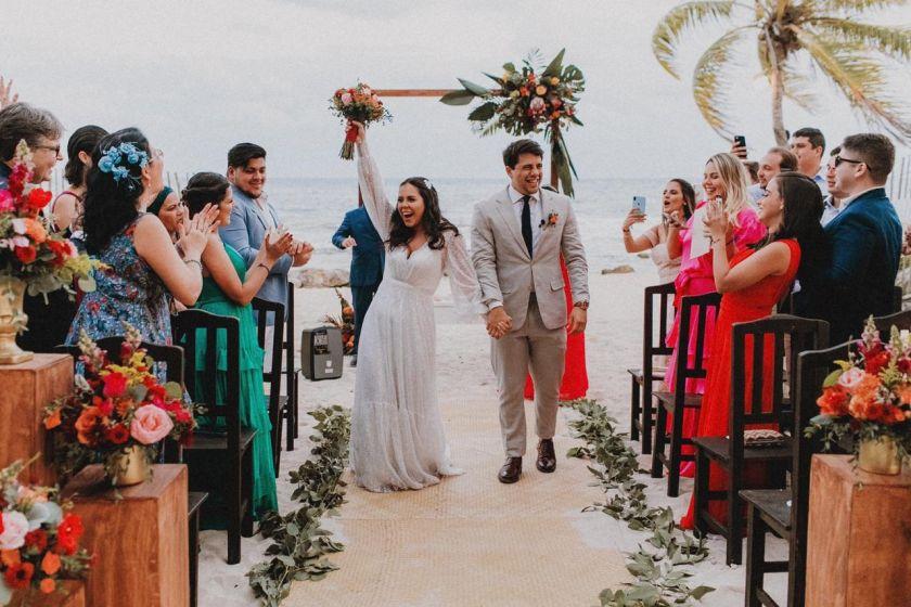 Destination Wedding em Cancún - Gaby e Caio