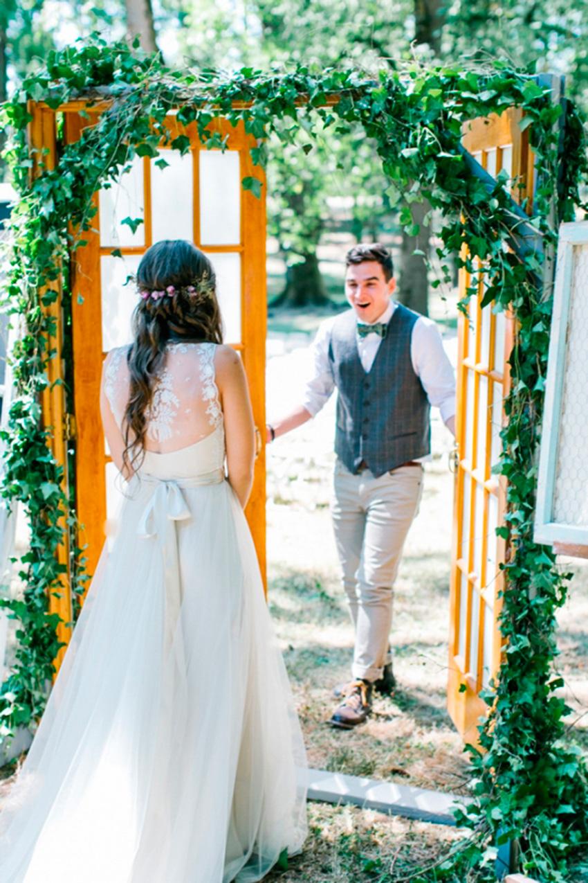 Momento First Look nos casamentos