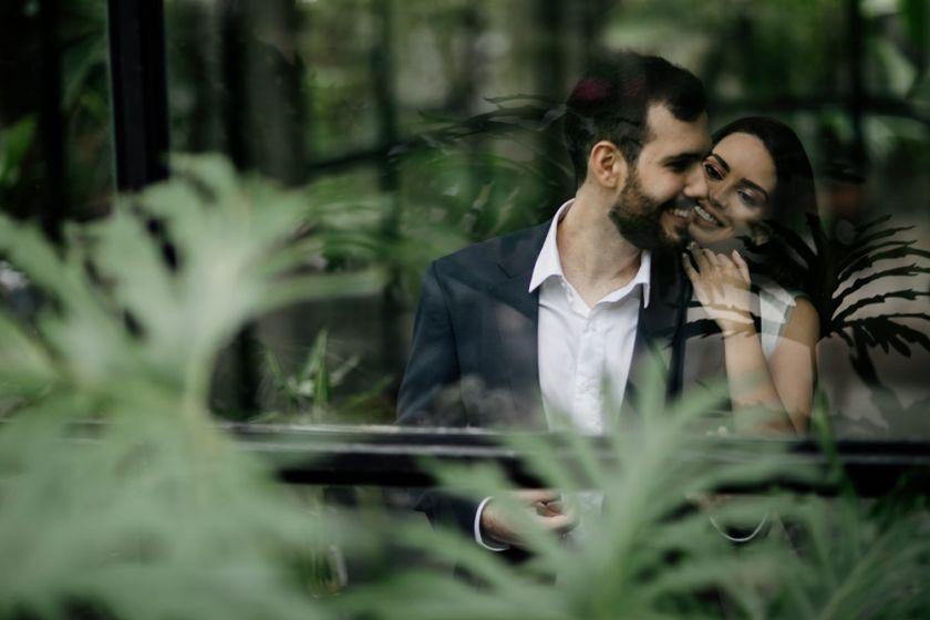 Ensaio  Pré-Wedding no café - Andressa e Felipe