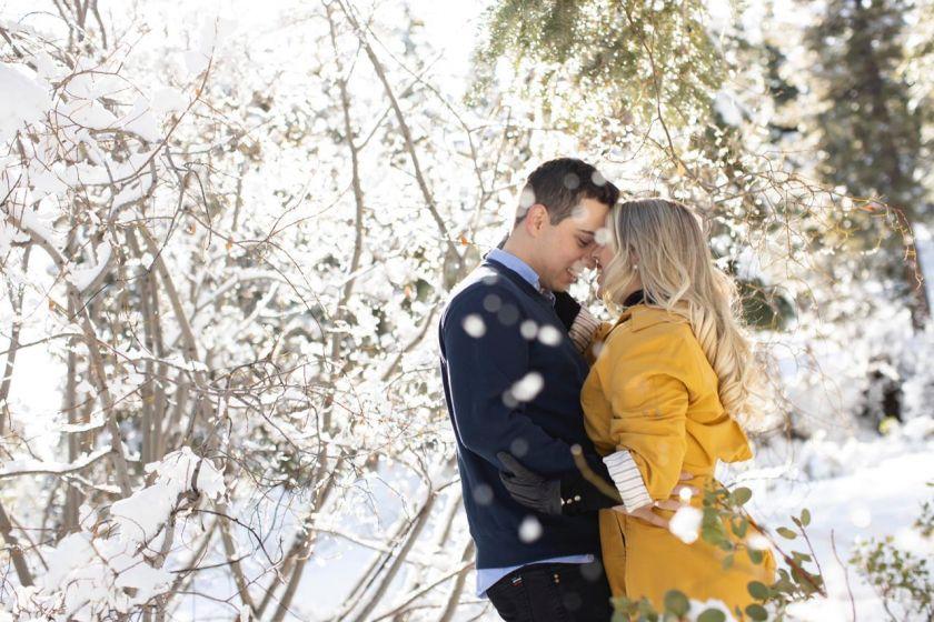 Ensaio Pré Wedding na Neve - Marthina e Pedro Henrique na Califórnia