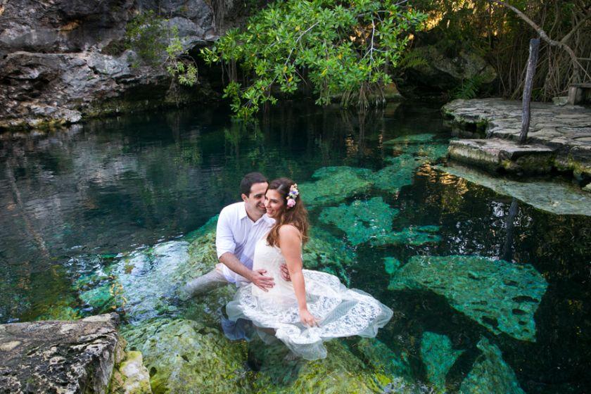 Ensaio Underwater na lua de mel -  Carol e Vitor