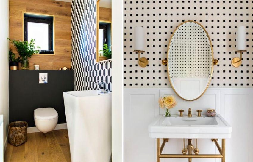Lavabo com papel de parede: aposte nesta tendência