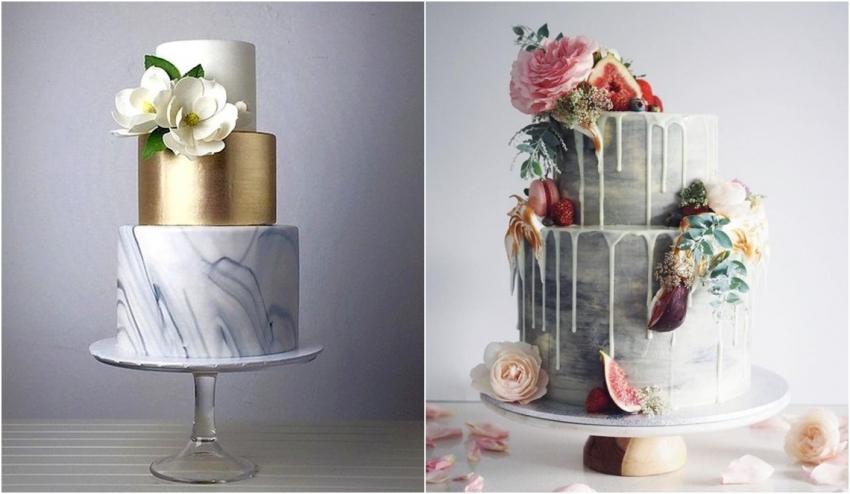Tendência 2017 para bolos de casamento