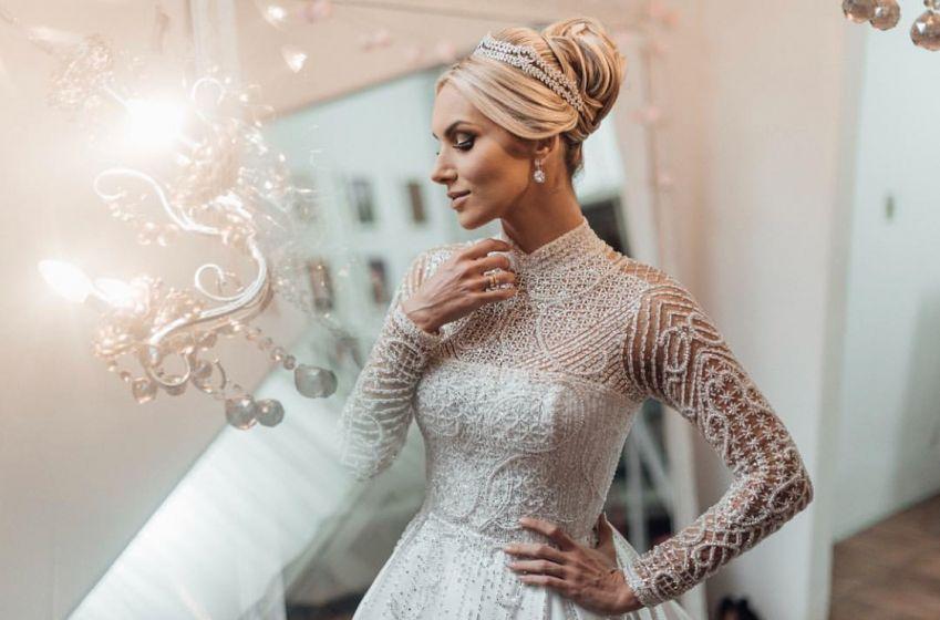 A beleza e o vestido de noiva de Larissa Zagel