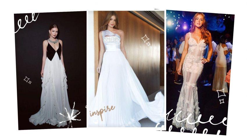 Vestidos brancos de Marina Ruy Barbosa