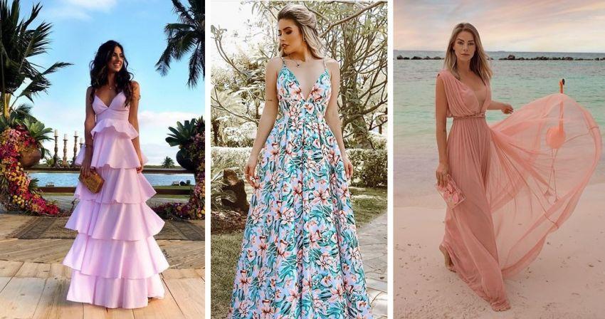 Vestidos de festa para casamento na praia