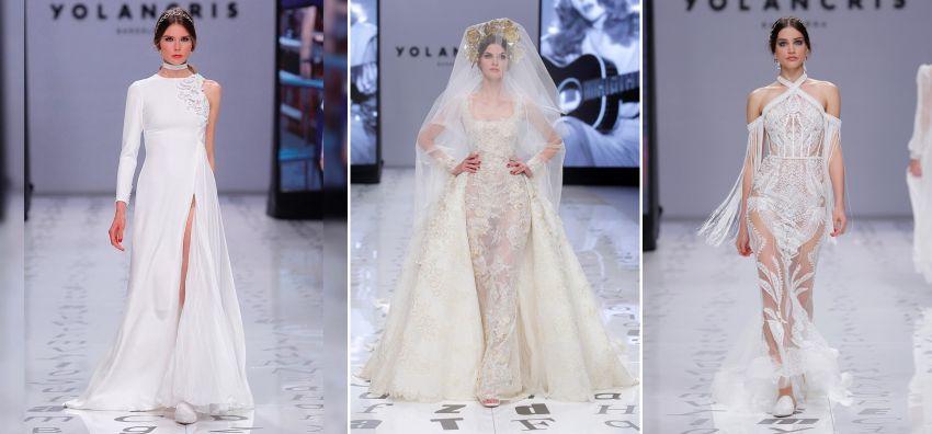Vestidos de noiva Yolancris - Barcelona Bridal Week 2019